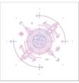 Colorful line geometric futuristic graphic design vector image vector image