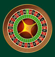 colorful wheel of luck or fortune on green vector image vector image