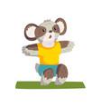 cute coala bear doing squats wearing sports vector image