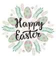 Cute Happy Easter lettering on celebration vector image vector image