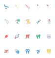 Dental Colored Icons 5 vector image vector image