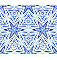 elegant kaleidoscope star pattern blue vector image
