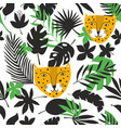 endless background with jungle leaves and tropical vector image vector image