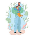 father and son hugging vector image vector image