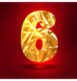 figure 6 made golden crumpled foil vector image vector image