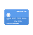 Flat design credit card vector image