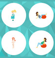 flat icon pregnancy set of pregnant woman sport vector image