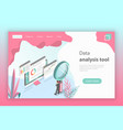 flat isometric concept of website data vector image vector image
