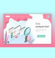 flat isometric concept website data vector image