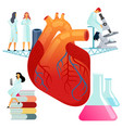 flat large human heart on a vector image