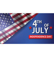 fourth of july realistic greeting card happy vector image