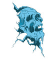 frozen skull vector image vector image