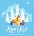 gifts holiday card vector image vector image