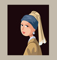 girl with a pearl earring editorial vector image