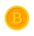 Golden Bitcoin Icon vector image