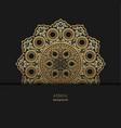 golden floral ornamental mandala style design vector image vector image