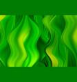 green wavy paint streams abstract vector image vector image