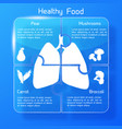 healthy food template vector image vector image