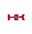 HK Logo Graphic Branding Letter Element vector image vector image