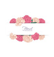 horizontal stripe decorated with garden blooming vector image
