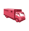 horse truck trailer retro vector image vector image