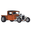 Hot rod vector image vector image