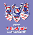 independence day usa sale promotion banner vector image vector image