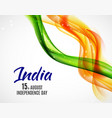 indian independence day background with waves vector image
