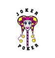 joker mask on a stick vector image
