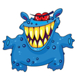 laughing monster vector image vector image