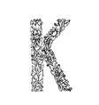 letters floral k vector image vector image
