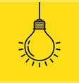 light bulb line icon isolated on yellow vector image vector image