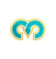 m symbol logo vector image vector image