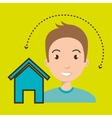 man home page web vector image