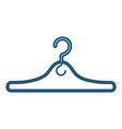 metal clothes hook icon vector image