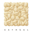 oatmeal square icon cartoon vector image vector image
