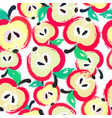painted apple pattern background vector image vector image