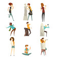 people of creative professions set talented vector image vector image