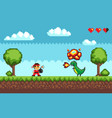pixel art game design in 8 bit style character vector image vector image