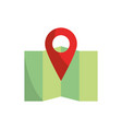 pointer gps folded map and navigation vector image vector image