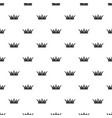princess crown pattern seamless vector image vector image