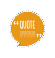 quote talk logo vector image vector image