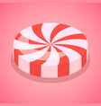 red candy swirl icon isometric style vector image