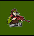 red sniper mascot logo team sniper man mascot logo vector image vector image