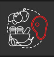 restaurant chalk concept icon vector image