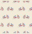 retro bicycle with bin on the front wheel seamless vector image