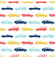 retro car seamless pattern vector image