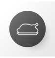roasted hen icon symbol premium quality isolated vector image