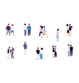 romantic couples single girl man and people in vector image