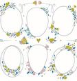 romantic set circle floral borders vector image